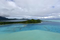Aerial view on Bora Bora Stock Photography