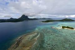Aerial view on Bora Bora Royalty Free Stock Photos