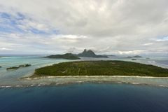 Aerial view on Bora Bora Stock Image