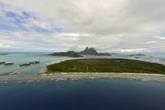 Aerial view on Bora Bora Royalty Free Stock Images
