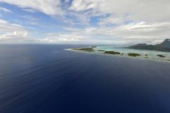 Aerial view on Bora Bora Stock Images