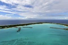 Aerial view on Bora Bora. Tropical island at Bora bora - aerial view Stock Images
