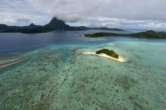 Aerial view on Bora Bora Stock Photography