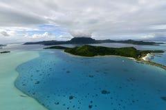 Aerial view on Bora Bora Stock Photo