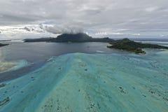 Aerial view on Bora Bora Stock Photos