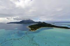 Aerial view on Bora Bora Royalty Free Stock Photography
