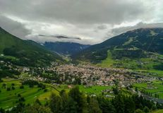 Aerial view of Bormio in Lombardy. Italy Royalty Free Stock Photo