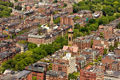 Aerial view of Boston Royalty Free Stock Images