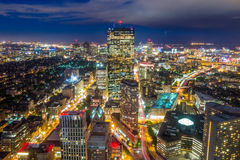 Aerial view of Boston in Massachusetts Stock Images