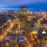 Aerial view of Boston in Massachusetts Royalty Free Stock Photography