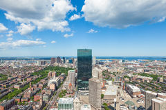 Aerial view of Boston skyline - Massachusetts - USA Royalty Free Stock Photo