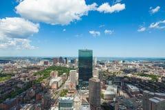 Aerial view of Boston skyline - Massachusetts - USA Royalty Free Stock Image