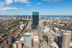 Aerial view of Boston skyline - Massachusetts - USA Royalty Free Stock Images