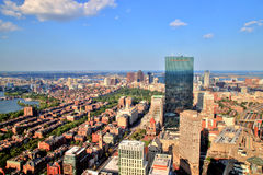 Aerial View of Boston Royalty Free Stock Image