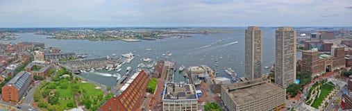 Boston Waterfront, Long Wharf, Massachusetts, USA Stock Image