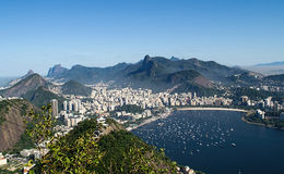 Aerial view of Botafogo  from the Sugar Loaf Stock Photography