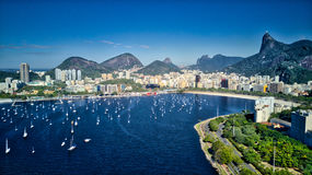 Aerial View of Botafogo and Urca Royalty Free Stock Image