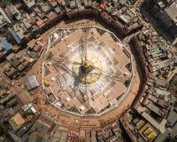 Aerial view on Boudha stupa. Stock Image