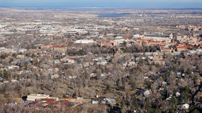 Aerial View of Boulder, Colorado Stock Images