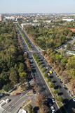 Aerial view of a boulevard Royalty Free Stock Photography