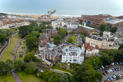 Aerial view of Bournemouth Pier Stock Image