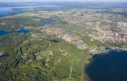 Aerial view of Boyen stronghold Stock Photos
