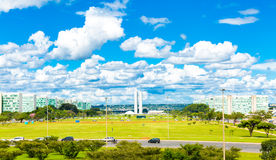 Aerial view of Brasilia, Brazil.  Royalty Free Stock Photography