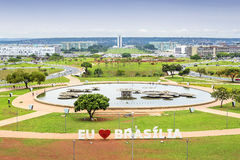 Aerial View of Brasilia, Capital of Brazil Royalty Free Stock Image