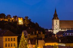 Aerial view of Brasov royalty free stock photography