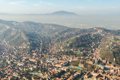 Aerial View Of Brasov City In The Carpathian Mountains Royalty Free Stock Image