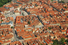 Aerial view of Brasov city, Romania Stock Image