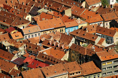 Aerial view of Brasov city, Romania Stock Images