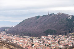 Aerial View Of Brasov City In Romania Stock Image