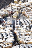 Aerial view of the Brasov Counsel House Stock Image