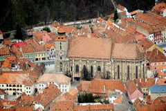 Aerial view with Brasov Stock Images