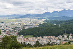 Aerial view of Brasov suburbs Royalty Free Stock Image