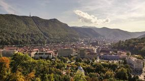 Aerial view of Brasov, tovn in Transylvania, Romania royalty free stock photos
