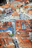 Aerial view of Brasov town Stock Image