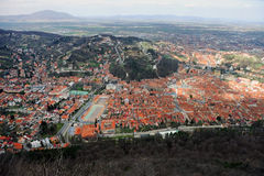 Aerial view of Brasov town Royalty Free Stock Photography