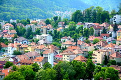 Aerial view of Brasov Royalty Free Stock Images