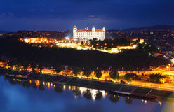 Aerial view on Bratislava castle Royalty Free Stock Photography