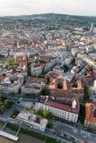 Aerial view of Bratislava center, Slovakia Stock Image