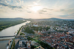 Aerial view of Bratislava city center, Slovakia Stock Photos