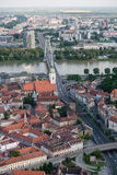 Aerial view of Bratislava city center, Slovakia Royalty Free Stock Image