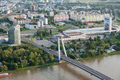 Aerial view of Bratislava city center, Slovakia Royalty Free Stock Images