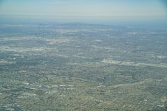 Aerial view of the Brea, Fullerton. Aera, Orange County, California royalty free stock image