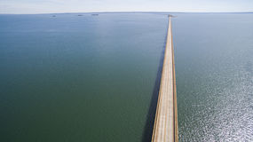 Aerial view Bridge of mato grosso state border with sao paulo st. Ate in Brazil stock photos