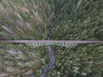 Aerial view of bridge over river Royalty Free Stock Image