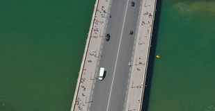 Aerial view of bridge Royalty Free Stock Photography