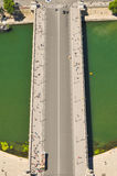 Aerial view of bridge Royalty Free Stock Photos